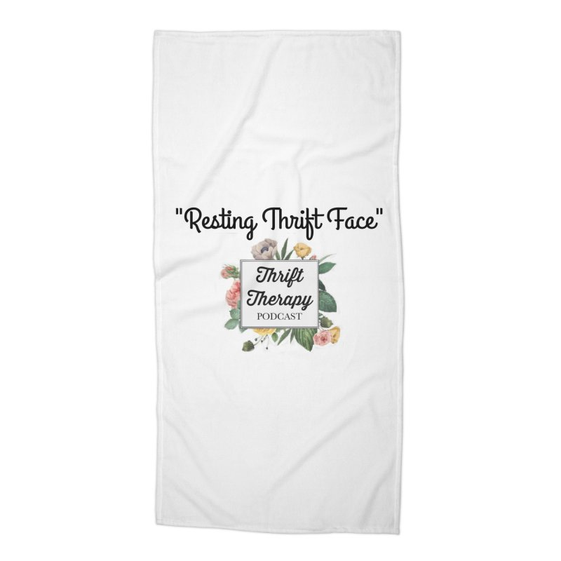 RestingThrift Face Accessories Beach Towel by thrifttherapypod's swag