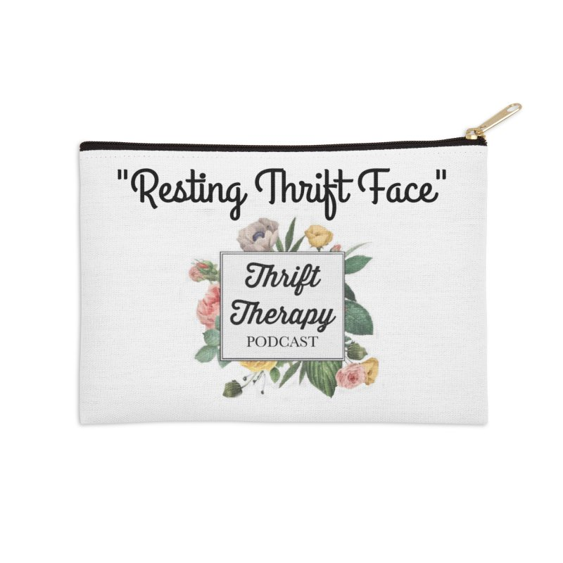 RestingThrift Face Accessories Zip Pouch by thrifttherapypod's swag