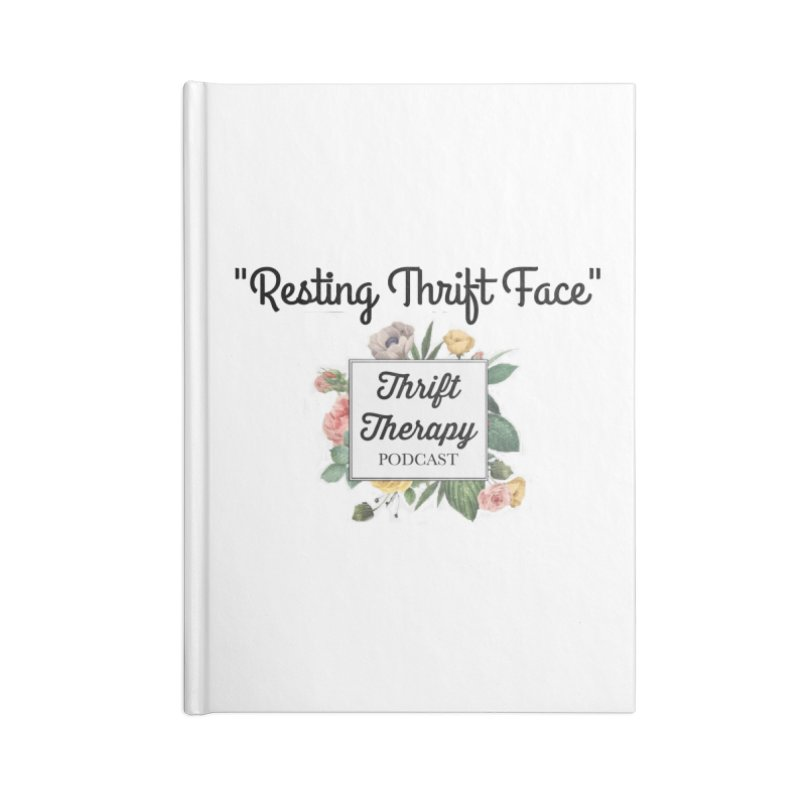 RestingThrift Face Accessories Notebook by thrifttherapypod's swag