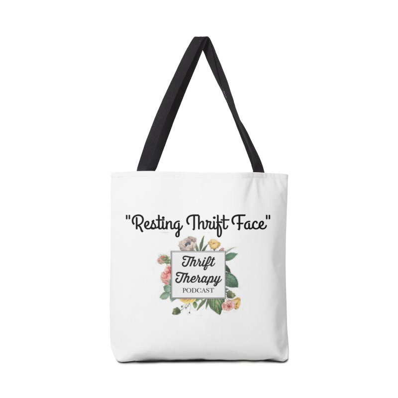 RestingThrift Face Accessories Tote Bag Bag by thrifttherapypod's swag