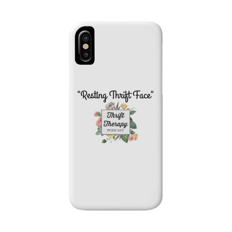 RestingThrift Face Accessories Phone Case by thrifttherapypod's swag