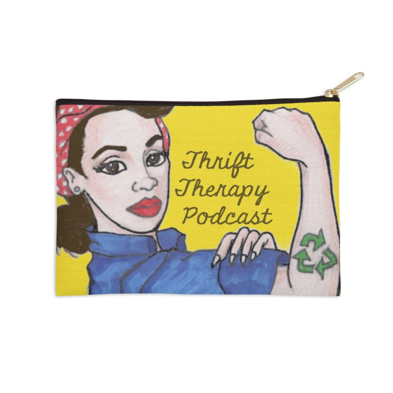 We Can Thrift It! Thrift Therapy Podcast Accessories Zip Pouch by thrifttherapypod's swag