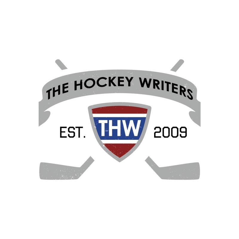 THW Hockey Sticks Logo - for lighter items Women's Scoop Neck by The Hockey Writers