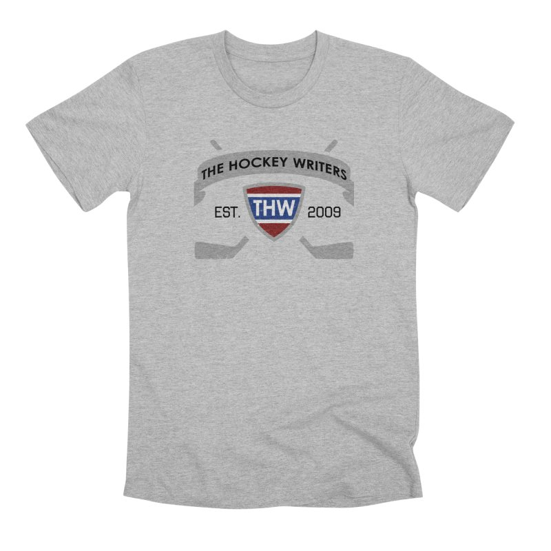 THW Hockey Sticks Logo - for lighter items Men's Premium T-Shirt by The Hockey Writers