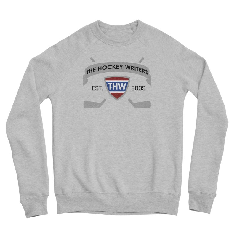 THW Hockey Sticks Logo - for lighter items Men's Sponge Fleece Sweatshirt by The Hockey Writers