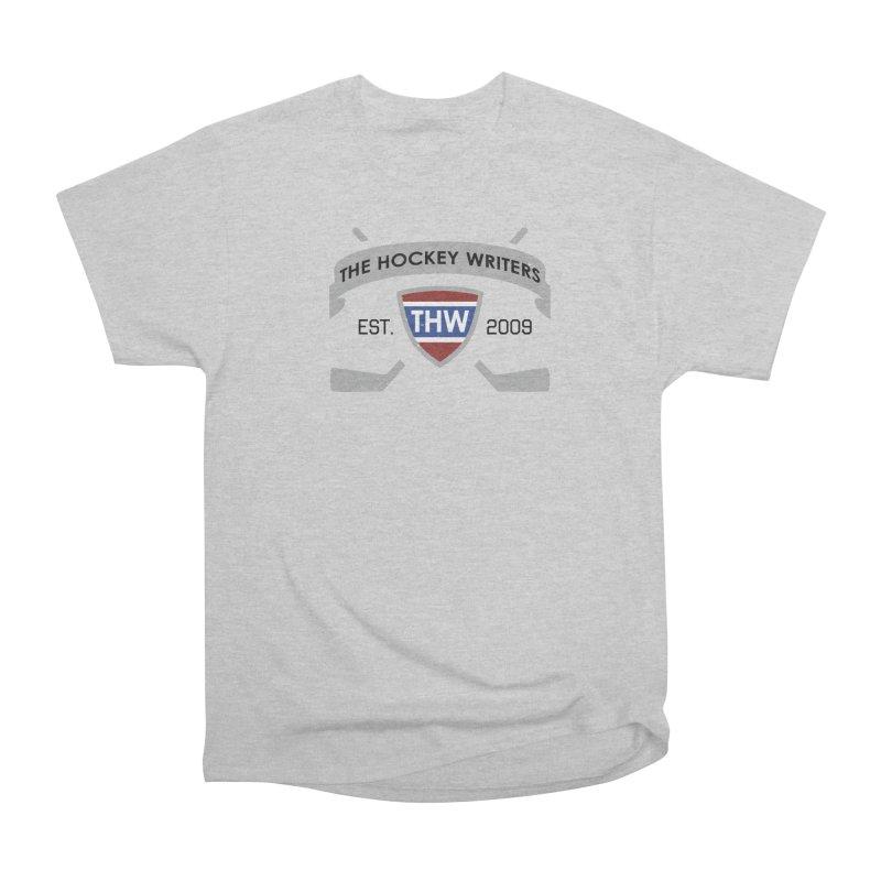 THW Hockey Sticks Logo - for lighter items Women's Heavyweight Unisex T-Shirt by The Hockey Writers