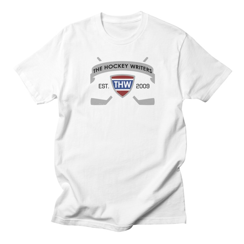 THW Hockey Sticks Logo - for lighter items Men's T-Shirt by The Hockey Writers