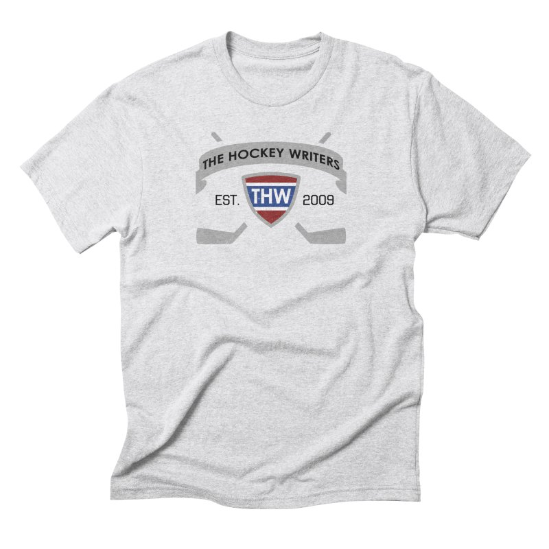 THW Hockey Sticks Logo - for lighter items Men's Triblend T-Shirt by The Hockey Writers