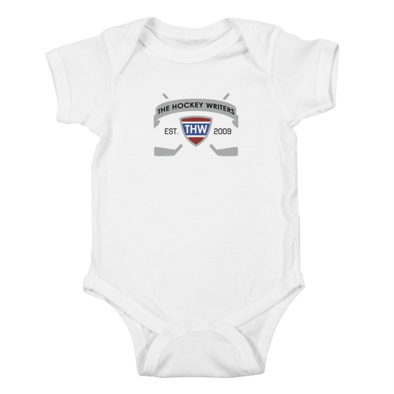 THW Hockey Sticks Logo - for lighter items Kids Baby Bodysuit by The Hockey Writers