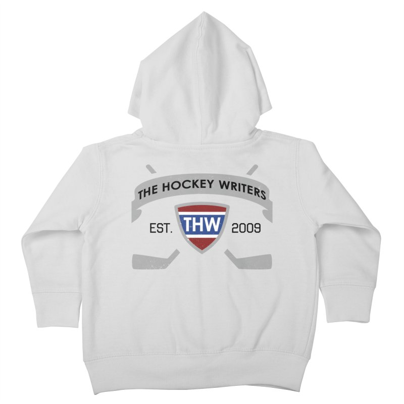 THW Hockey Sticks Logo - for lighter items Kids Toddler Zip-Up Hoody by The Hockey Writers