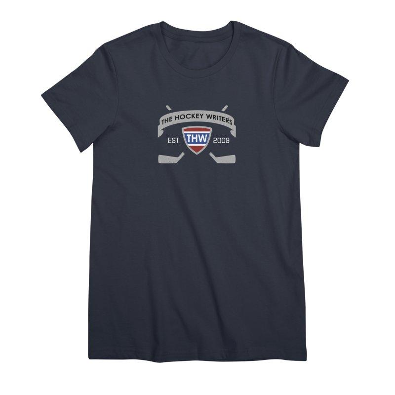 THW Hockey Sticks Logo - dark items Women's Premium T-Shirt by The Hockey Writers
