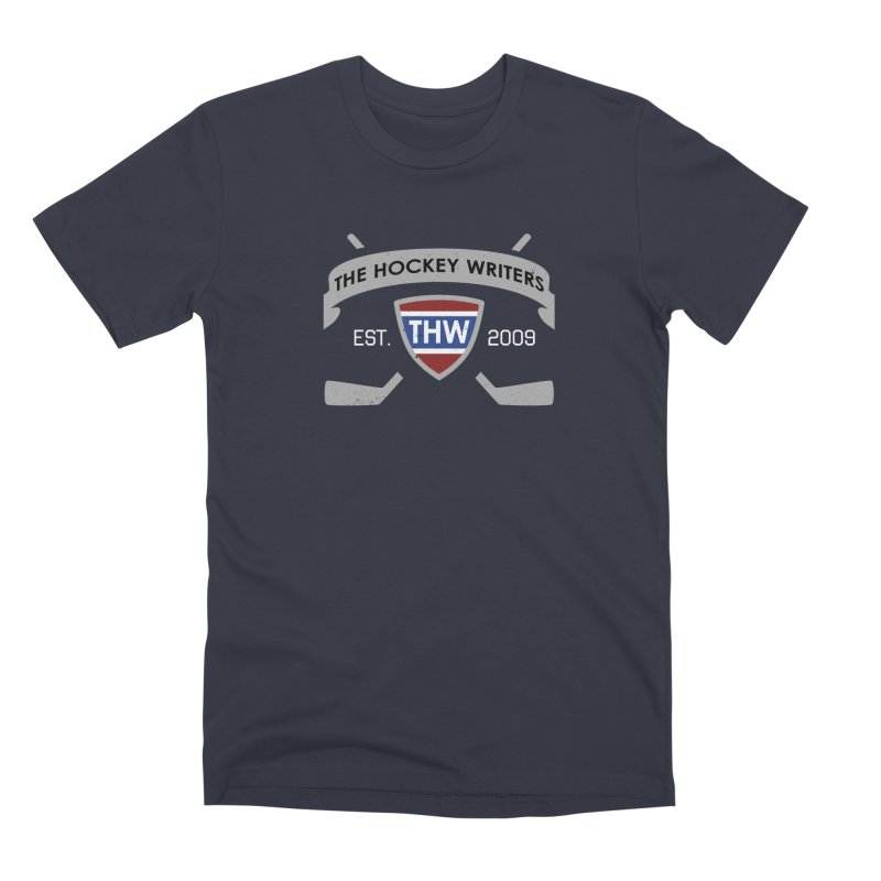THW Hockey Sticks Logo - dark items Men's Premium T-Shirt by The Hockey Writers