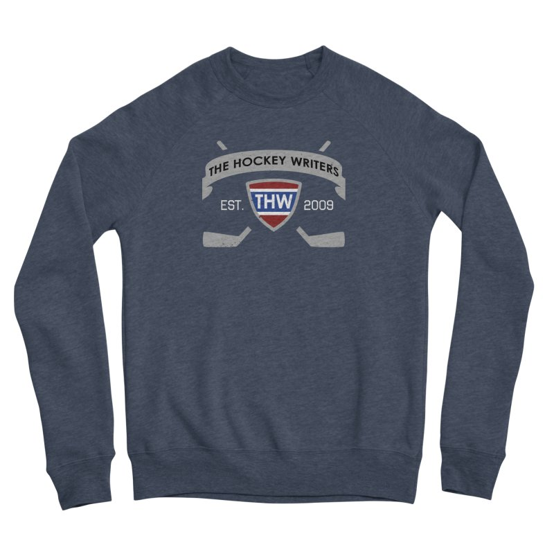 THW Hockey Sticks Logo - dark items Men's Sponge Fleece Sweatshirt by The Hockey Writers