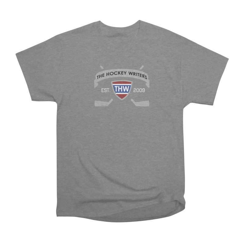 THW Hockey Sticks Logo - dark items Women's Heavyweight Unisex T-Shirt by The Hockey Writers