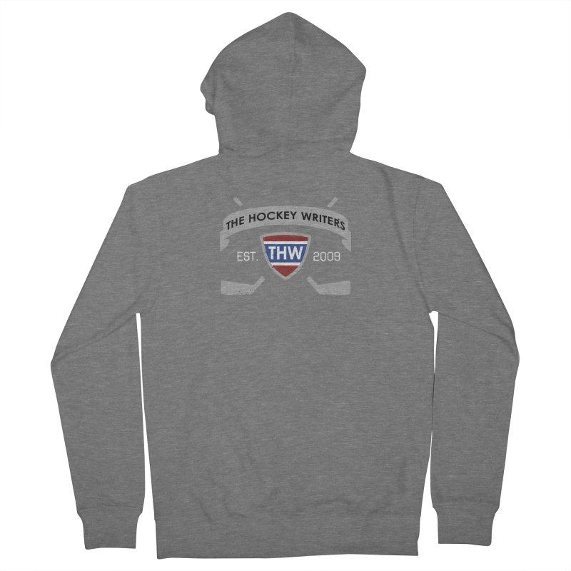 THW Hockey Sticks Logo - dark items Men's French Terry Zip-Up Hoody by The Hockey Writers