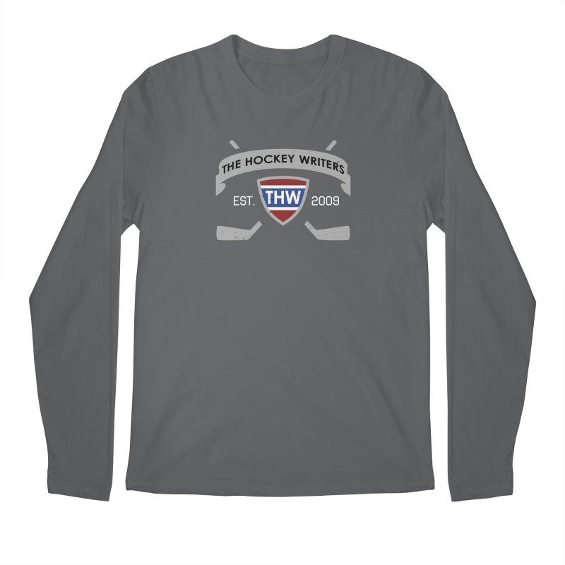 THW Hockey Sticks Logo - dark items Men's Regular Longsleeve T-Shirt by The Hockey Writers