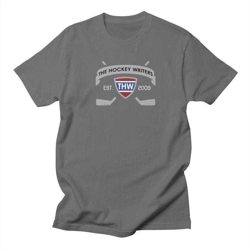 THW Hockey Sticks Logo - dark items Men's Regular T-Shirt by The Hockey Writers