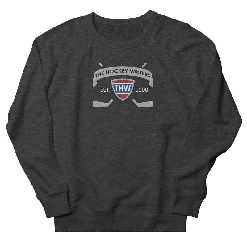 THW Hockey Sticks Logo - dark items Women's French Terry Sweatshirt by The Hockey Writers