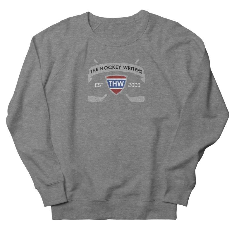 THW Hockey Sticks Logo - dark items Women's French Terry Sweatshirt by The Hockey Writers