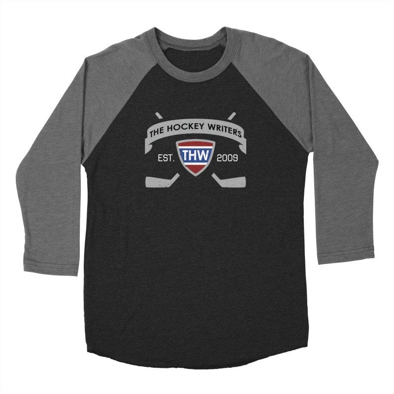 THW Hockey Sticks Logo - dark items Women's Baseball Triblend Longsleeve T-Shirt by The Hockey Writers