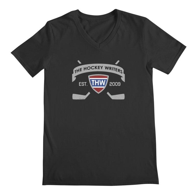 THW Hockey Sticks Logo - dark items Men's Regular V-Neck by The Hockey Writers