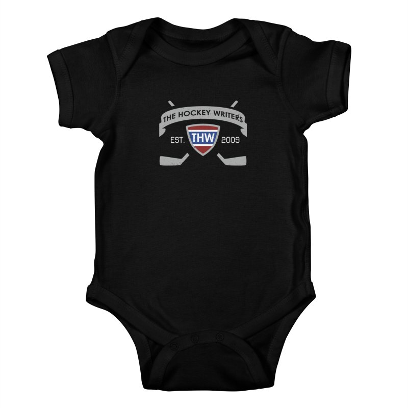THW Hockey Sticks Logo - dark items Kids Baby Bodysuit by The Hockey Writers