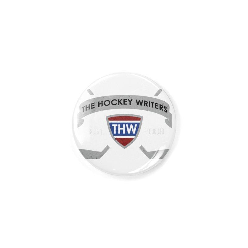 THW Hockey Sticks Logo - dark items Accessories Button by The Hockey Writers