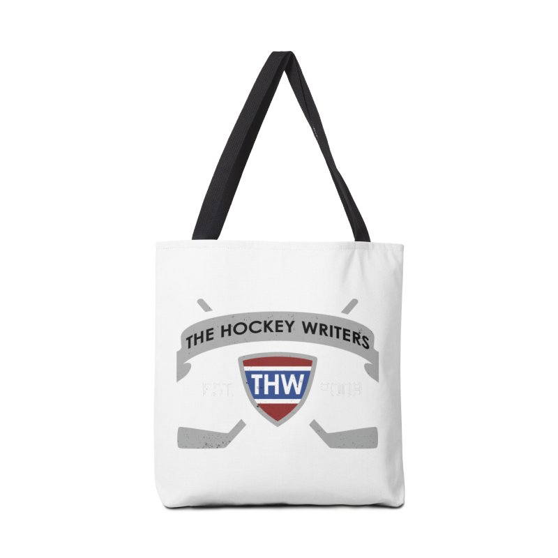 THW Hockey Sticks Logo - dark items Accessories Tote Bag Bag by The Hockey Writers