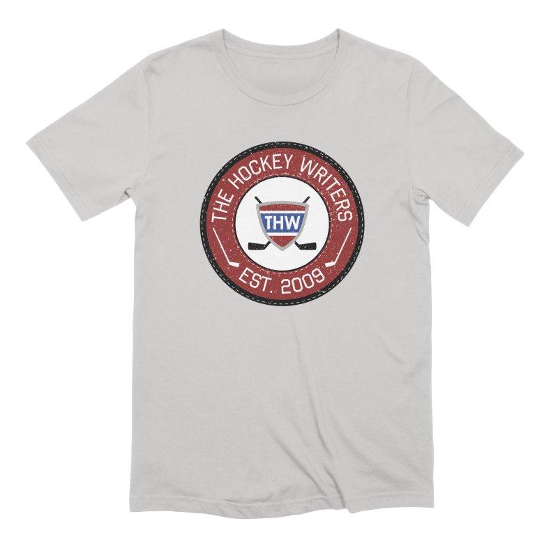 Round Dark-edged THW logo Men's Extra Soft T-Shirt by The Hockey Writers