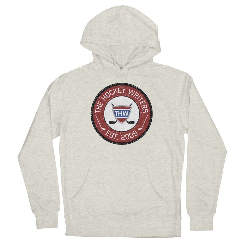 Round Dark-edged THW logo Women's French Terry Pullover Hoody by The Hockey Writers