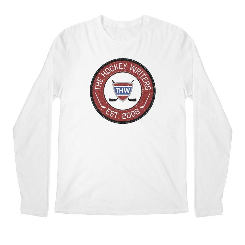 Round Dark-edged THW logo Men's Regular Longsleeve T-Shirt by The Hockey Writers