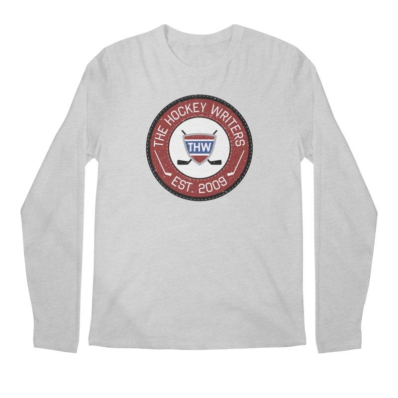 Round Dark-edged THW logo Men's Longsleeve T-Shirt by The Hockey Writers