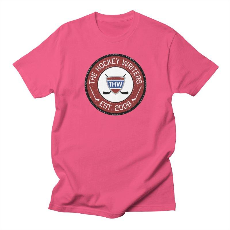 Round Dark-edged THW logo Men's Regular T-Shirt by The Hockey Writers