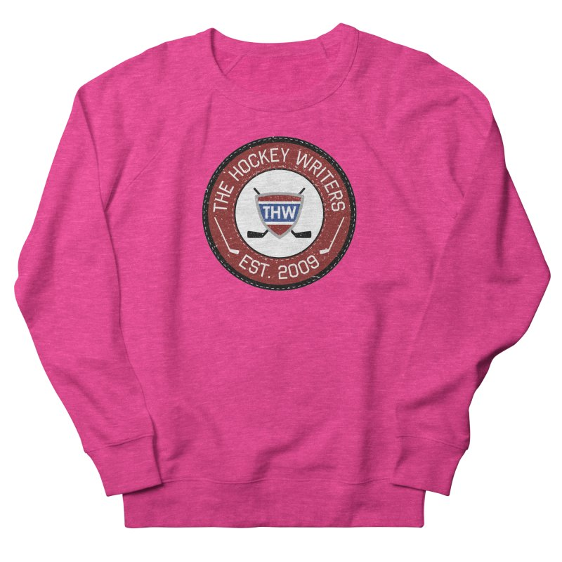 Round Dark-edged THW logo Women's French Terry Sweatshirt by The Hockey Writers