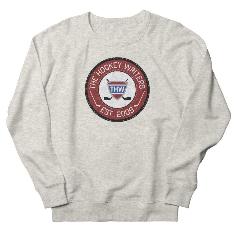 Round Dark-edged THW logo Women's French Terry Sweatshirt by The Hockey Writers
