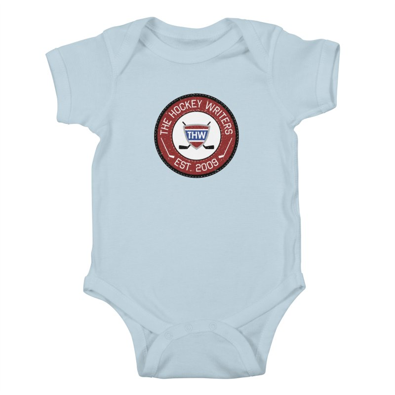 Round Dark-edged THW logo Kids Baby Bodysuit by The Hockey Writers