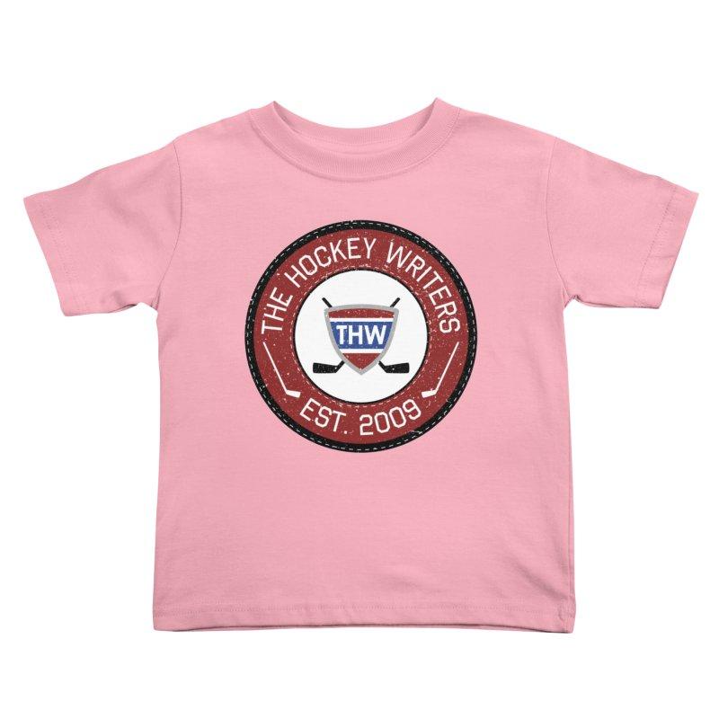 Round Dark-edged THW logo Kids Toddler T-Shirt by The Hockey Writers