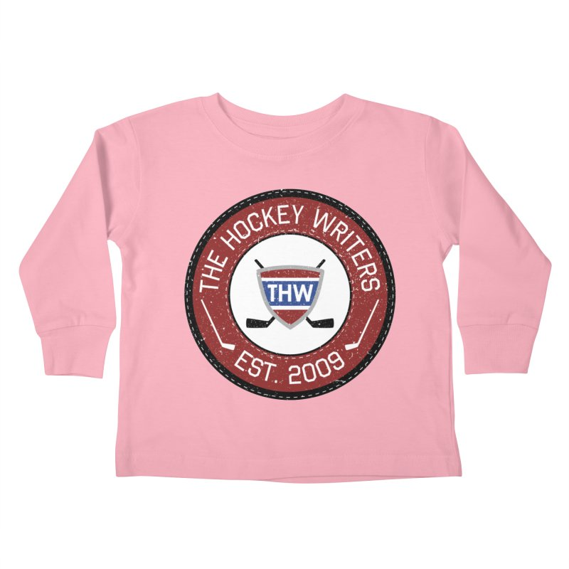 Round Dark-edged THW logo Kids Toddler Longsleeve T-Shirt by The Hockey Writers