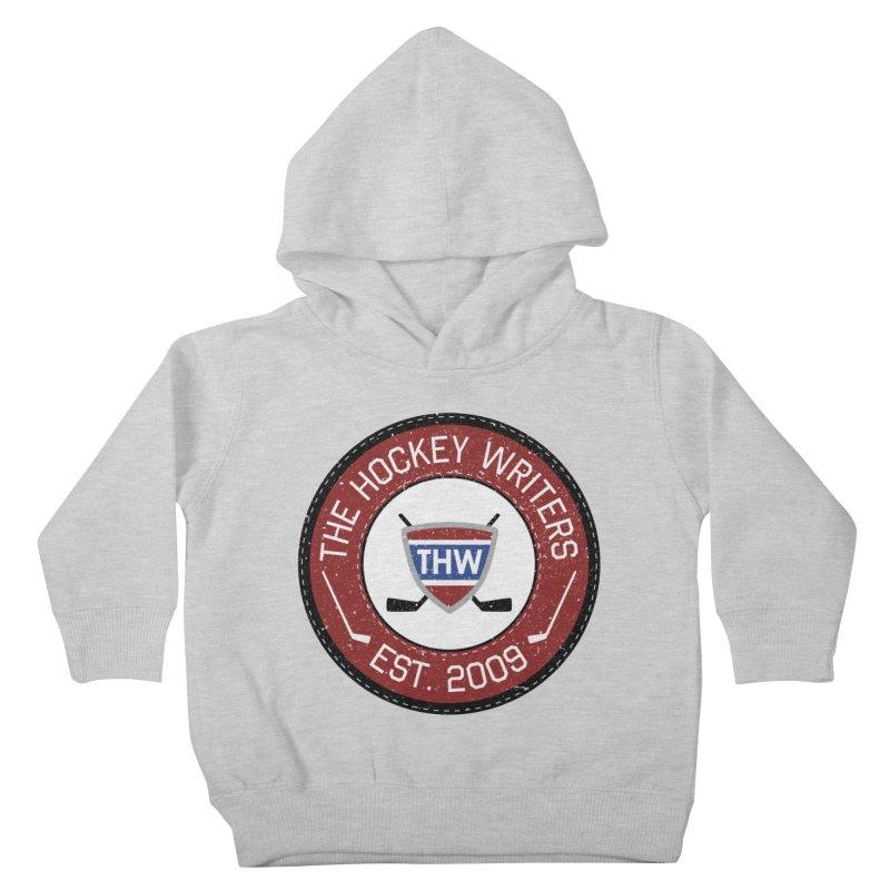 Round Dark-edged THW logo Kids Toddler Pullover Hoody by The Hockey Writers