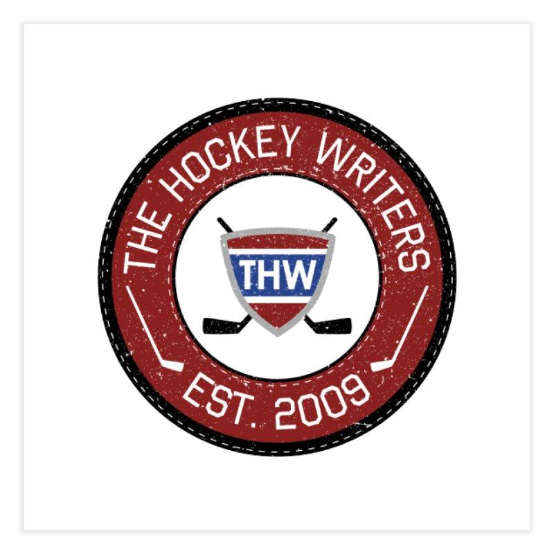 Round Dark-edged THW logo Home Fine Art Print by The Hockey Writers