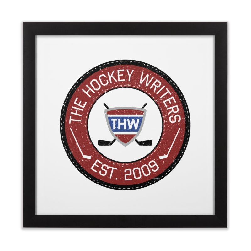 Round Dark-edged THW logo Home Framed Fine Art Print by The Hockey Writers