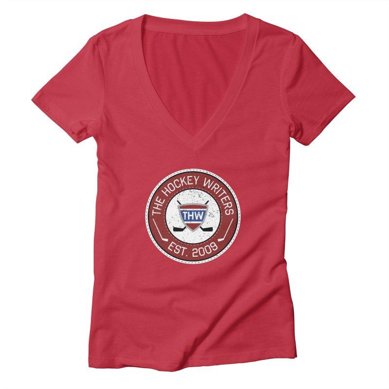 The Hockey Writers round logo - dark items Women's Deep V-Neck V-Neck by The Hockey Writers