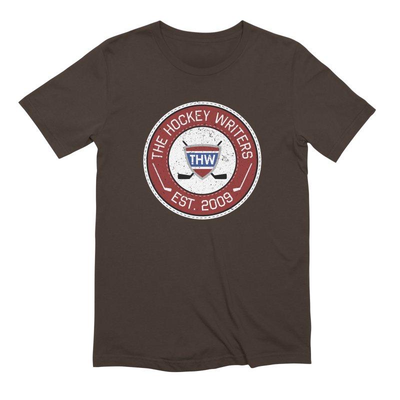 The Hockey Writers round logo - dark items Men's Extra Soft T-Shirt by The Hockey Writers