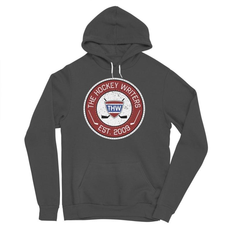 The Hockey Writers round logo - dark items Women's Sponge Fleece Pullover Hoody by The Hockey Writers