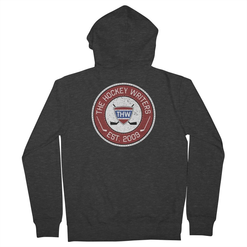 The Hockey Writers round logo - dark items Men's French Terry Zip-Up Hoody by The Hockey Writers