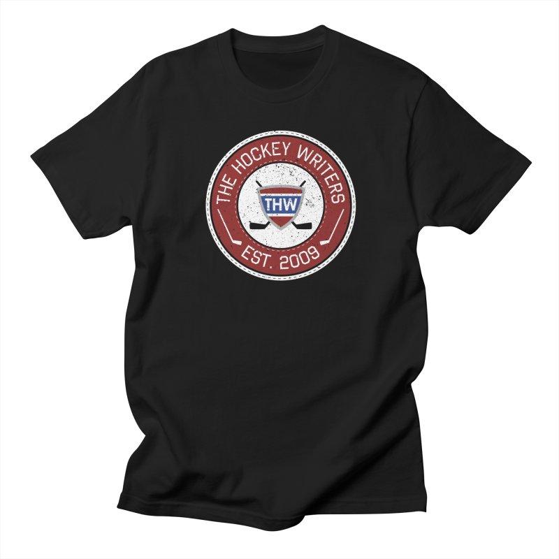 The Hockey Writers round logo - dark items Men's Regular T-Shirt by The Hockey Writers