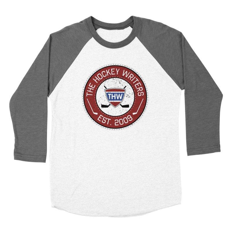 The Hockey Writers round logo - dark items Men's Baseball Triblend Longsleeve T-Shirt by The Hockey Writers