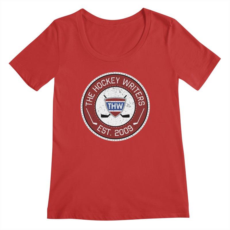 The Hockey Writers round logo - dark items Women's Regular Scoop Neck by The Hockey Writers