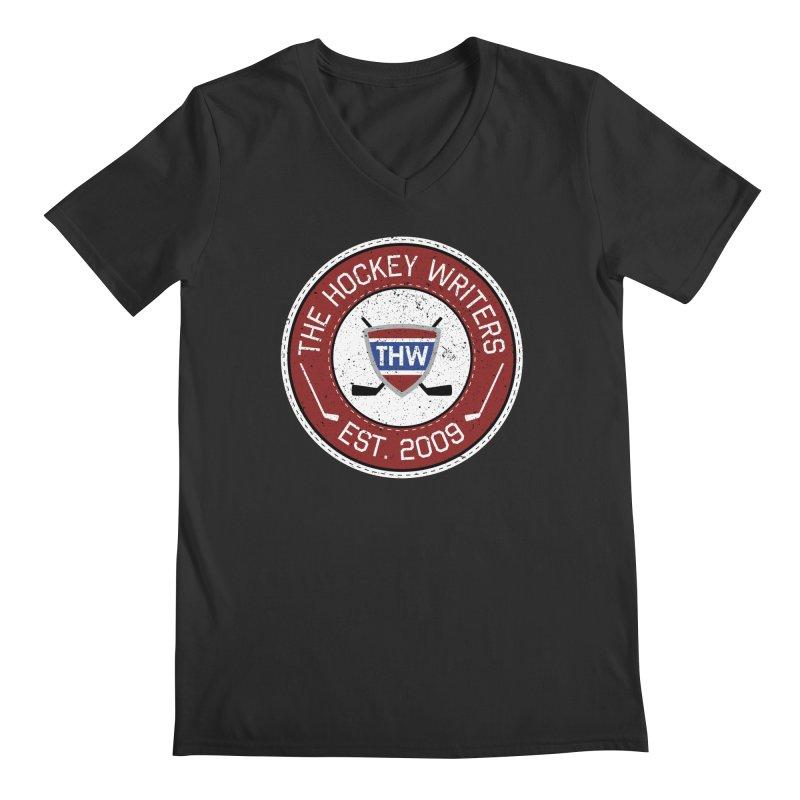 The Hockey Writers round logo - dark items Men's Regular V-Neck by The Hockey Writers