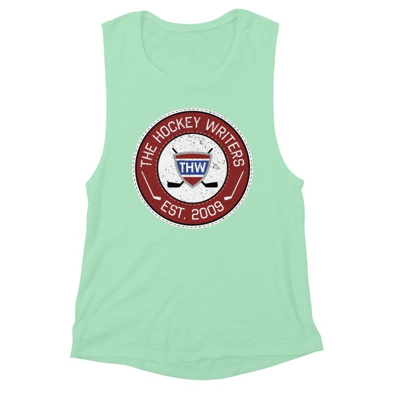 The Hockey Writers round logo - dark items Women's Muscle Tank by The Hockey Writers
